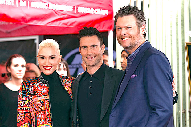 Gwen Stefani, Adam Levine, Blake Shelton