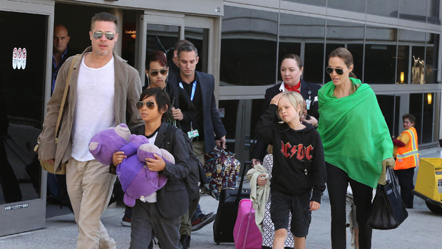 Brad Pitt & his kids