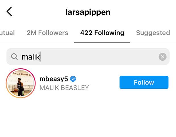 Malik Beasley, Larsa Pippen