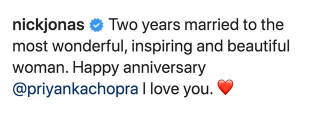 Nick Jonas Instagram Comment
