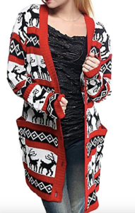 Reindeer Print Ugly Christmas sweater
