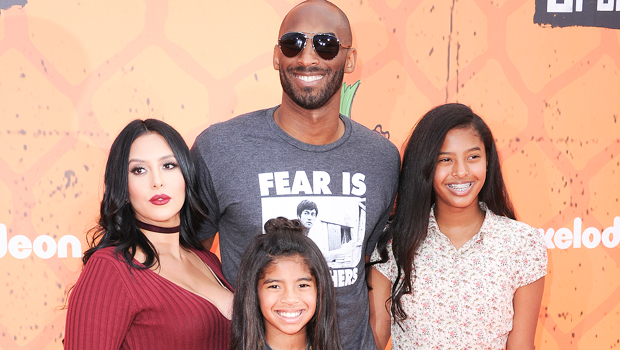Vanessa & Kobe Bryant with their daughters