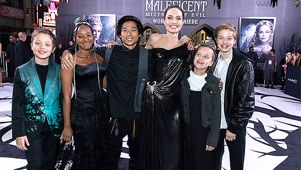 Angelina Jolie Jokes About Her 6 Kids Not Letting Her 'Touch' Their Phones In New Interview