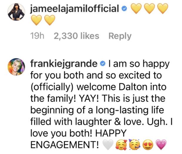 Jameela Jamil, Frankie Grande