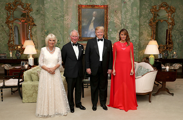 Donald Melania Trump Prince Charles Camilla