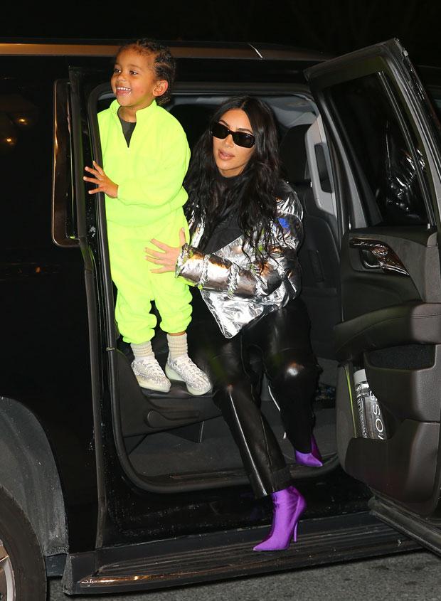Saint West & Kim Kardashian