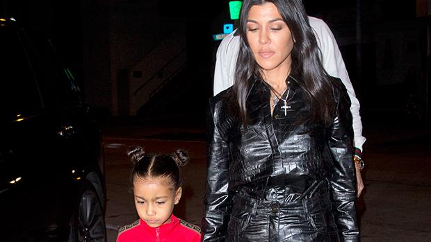 Kourtney Kardashian & North West