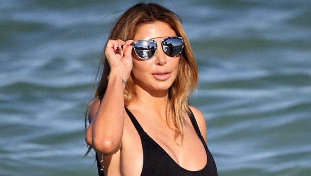 Larsa Pippen Glows In Black One Piece Swimsuit & Daisy Dukes As She Teases What's 'On My Mind'