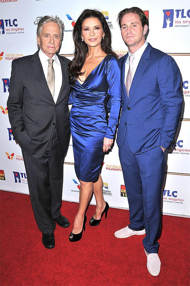 Michael Douglas, Cameron Douglas, Catherine Zeta-Jones
