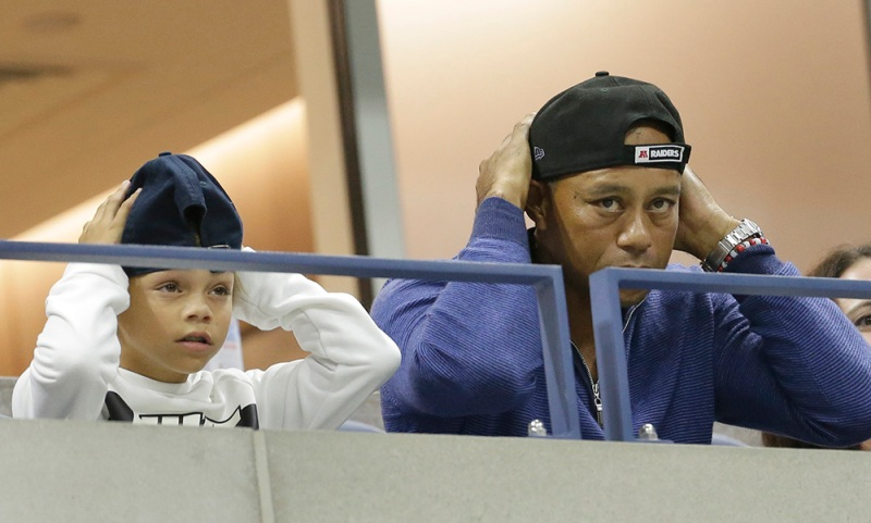 Tiger Woods and his son Charlie