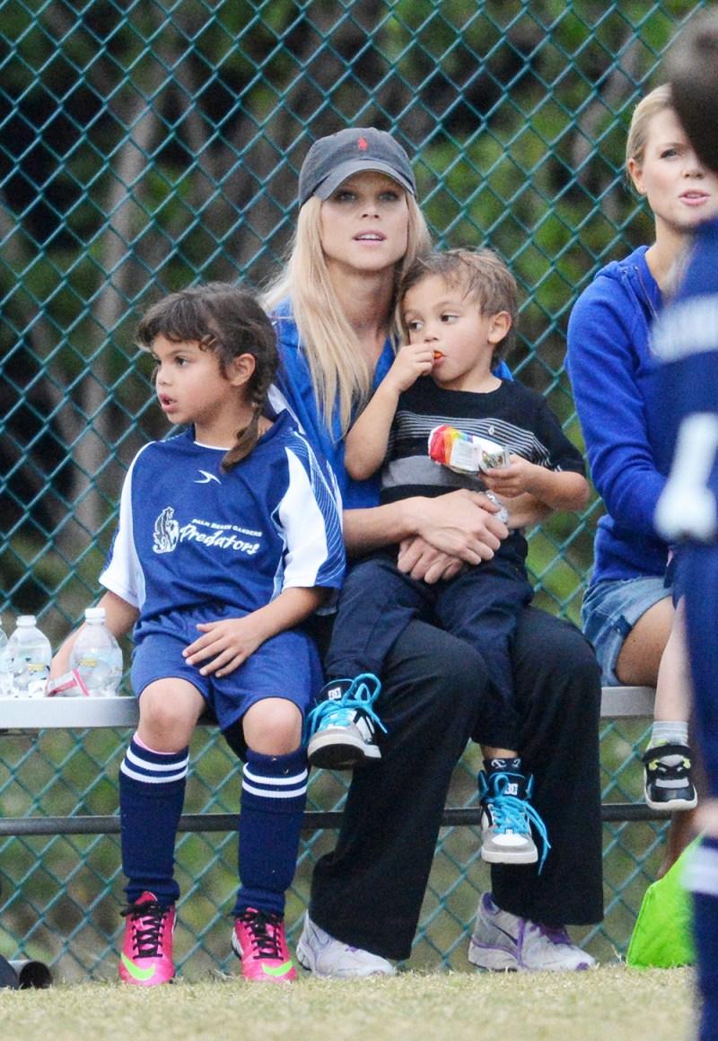 Elin Nordegren and her children.