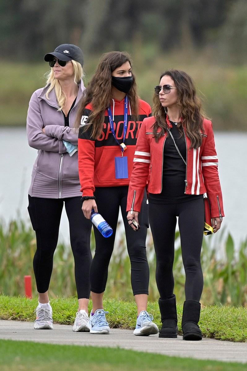 Elin Nordegren, left, Sam Alexis Woods, center, and Erica Herman