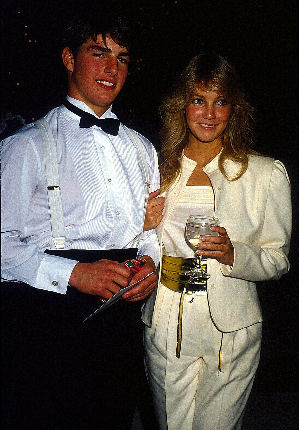 Tom Cruise With Heather Locklear 1981. Credit: 1838378Globe Photos/MediaPunch /IPX