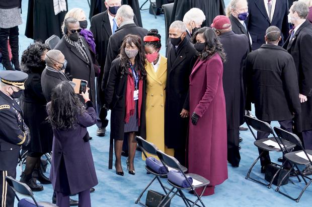 Amanda Gorman, Barack Obama, Michelle Obama