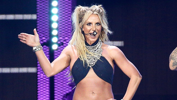 Britney Spears, 39, Dances In Black Crop Top & Short Shorts As Her Christmas Tree Shines
