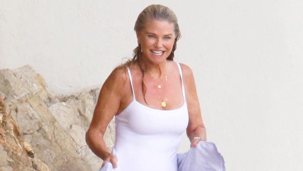 Christie Brinkley, 66, Slays In $450 Fendi Bikini & Short Shorts As She She Vacations In Turks & Caicos