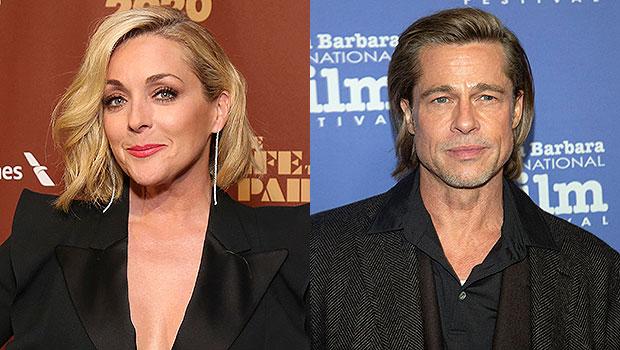 Jane Krakowski and Brad Pitt