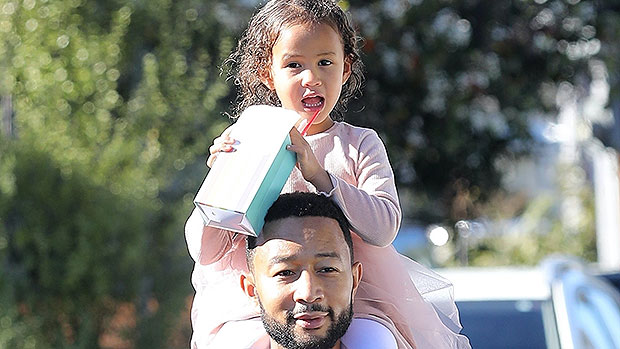 John Legend Carries Adorable Daughter Luna, 4, On His Shoulders As He Steps Out With Chrissy Teigen — See Pics
