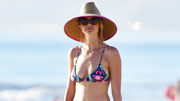 'Baywatch' Star Kelly Rohrbach Hits The Beach In January Wearing A Multi-Colored Bikini: See Pic