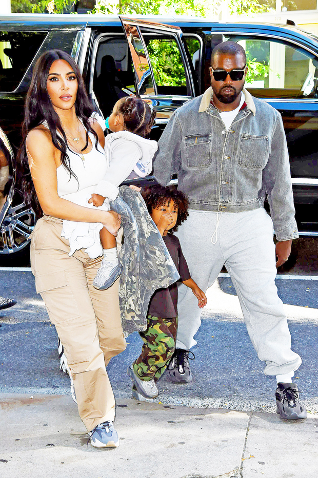Kim Kardashian Kanye West Saint Chicago
