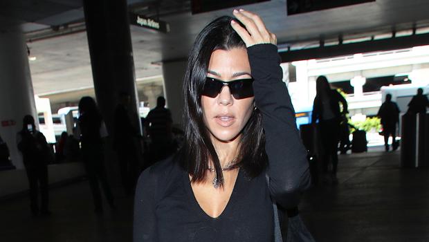 Kourtney Kardashian in all black