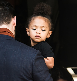 Serena Williams, Alexis Ohanian and daughter Alexis Olympia Ohanian Jr. are seen leaving S by Serena Williams Fashion Show during New York Fashion Week ***SPECIAL INSTRUCTIONS*** Please pixelate children's faces before publication.***. 10 Sep 2019 Pictured: Alexis Olympia Ohanian Jr. Photo credit: MEGA TheMegaAgency.com +1 888 505 6342 (Mega Agency TagID: MEGA502465_002.jpg) [Photo via Mega Agency]