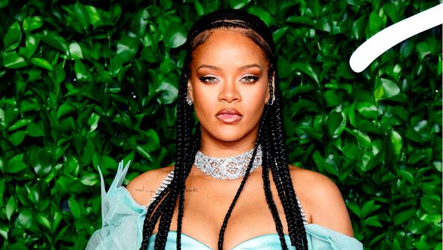 Rihanna Shines In Metallic Gold Bikini Top & Skirt As She Reveals Her New Year's Resolution