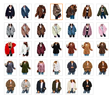 Different Colored Shearling Coat