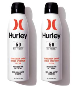 Hurley waterproof sunscreen
