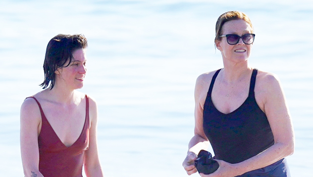 'Alien' Star Sigourney Weaver, 71, & Look-Alike Daughter, Charlotte, 30, Hit The Beach in One-Piece Swimsuits
