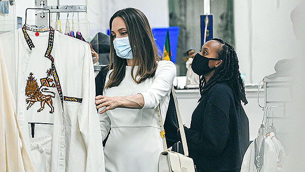 Angelina Jolie Steps Out With Daughter Zahara For 16h Birthday Shopping Trip — See Pics