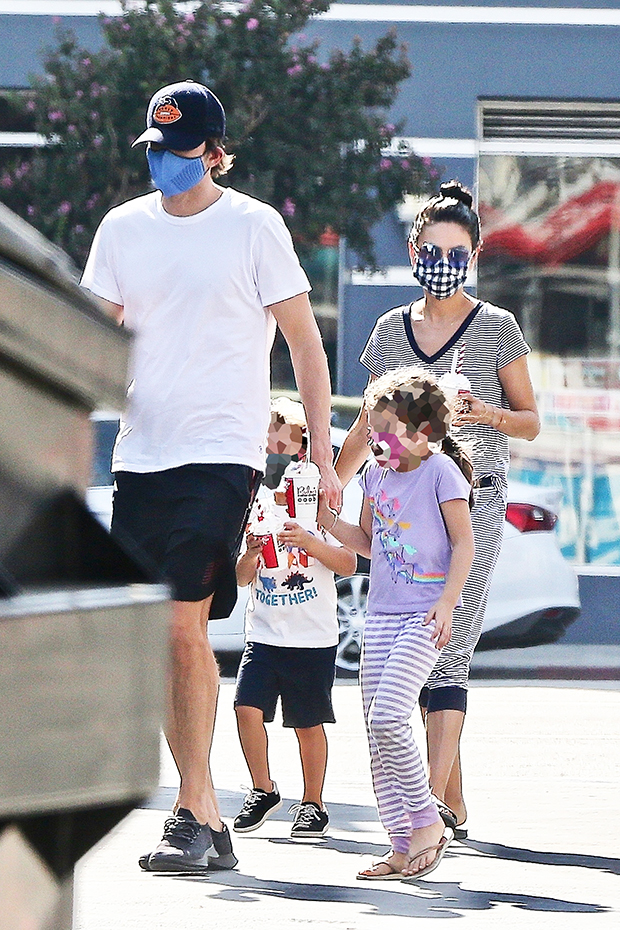 Mila Kunis, Ashton Kutcher, Kids