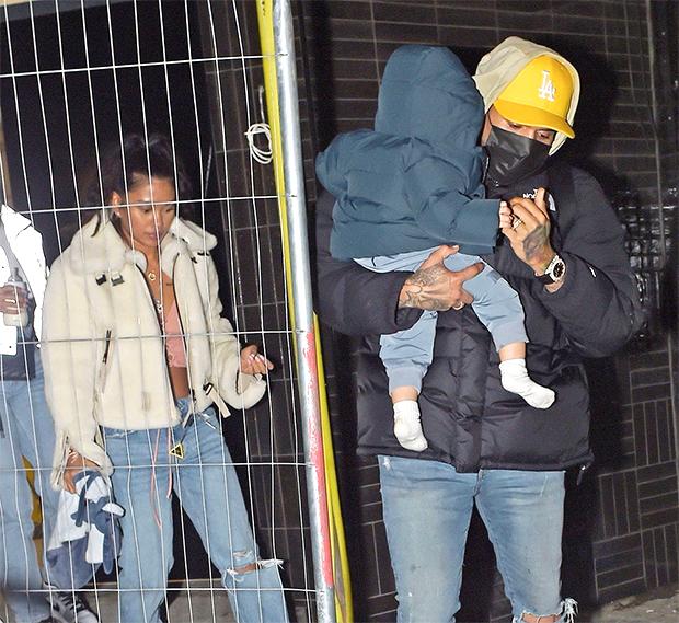 Chris Brown, Ammika Harris & son Aeko