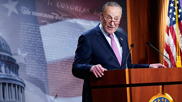 Chuck Schumer Says 'Erection' Instead Of 'Insurrection' On Senate Floor & No One Can Stop Laughing