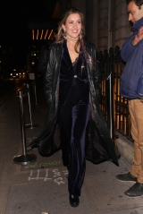 Celebrities attending Fran Cutlers Halloween party at The Berners Tavern. 31 Oct 2019 Pictured: Caggie Dunlop. Photo credit: MM / MEGA TheMegaAgency.com +1 888 505 6342 (Mega Agency TagID: MEGA539428_005.jpg) [Photo via Mega Agency]