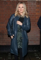 8 December 2020. Emily Atack is seen here leaving The Palace Theatre in London after performing in 'The Understudy Live' along with Comedian Lee Mack. 08 Dec 2020 Pictured: Emily Atack. Photo credit: CLICK NEWS AND MEDIA / MEGA TheMegaAgency.com +1 888 505 6342 (Mega Agency TagID: MEGA720062_002.jpg) [Photo via Mega Agency]