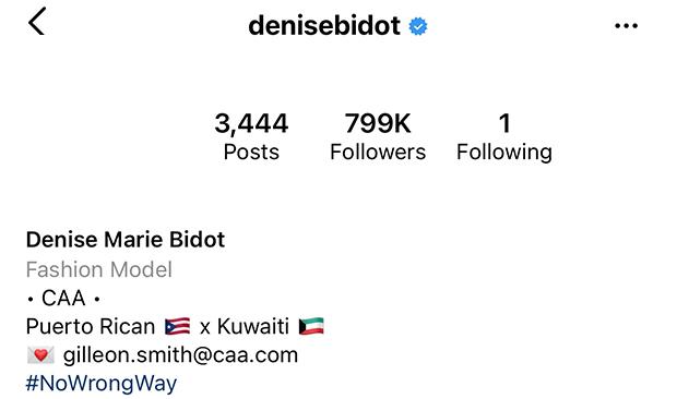 Denise Bidot Instagram