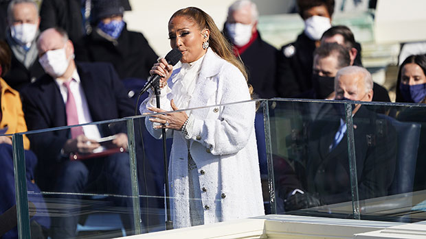 Jennifer Lopez Stuns In Suffragette White While Singing 'This Land Is Your Land' At Biden's Inauguration