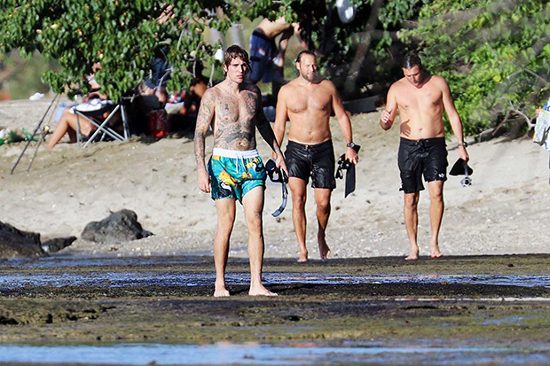 Justin Bieber at the beach