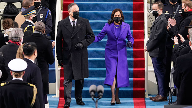 Kamala Harris Wears Gorgeous Purple Coat By Two Black Designers At Inauguration