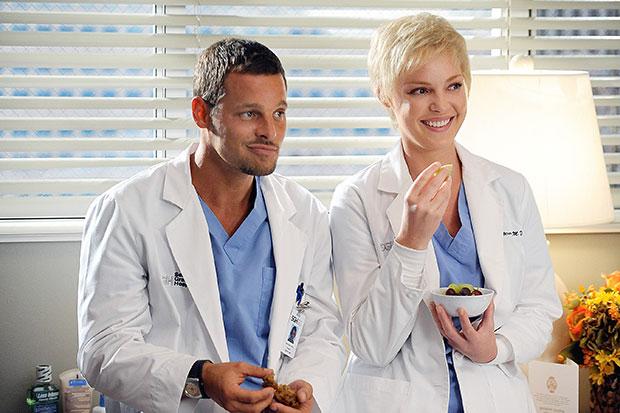 Justin Chambers & Katherine Heigl in Grey's Anatomy