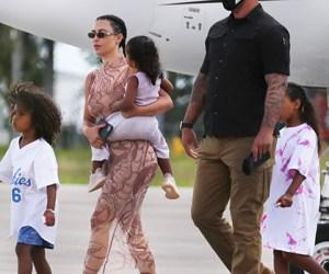 Kim Kardashian & her kids