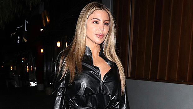 Larsa Pippen Wears Leather Short Shorts & Thigh High Boots While Lounging In Her Kitchen: See Pic