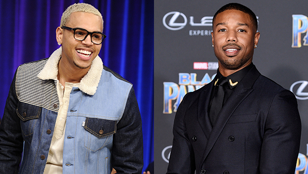 Chris Brown Teases Michael B. Jordan In Wild Side By Side Pic, Proving He Looks Like Steve Harvey