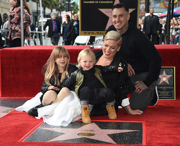 Pink & her family