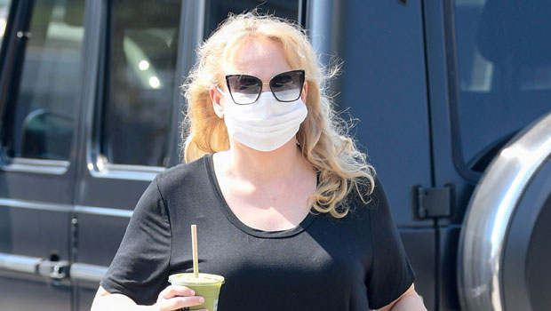 Rebel Wilson Shows Off Her Amazing 60 Lb. Weight Loss In Tight Leather Leggings On Movie Set