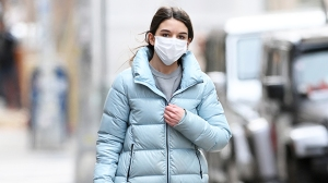 Suri Cruise, 14, Runs Through NYC In Blue Puffer Coat & UGG Boots During Chilly Shopping Trip