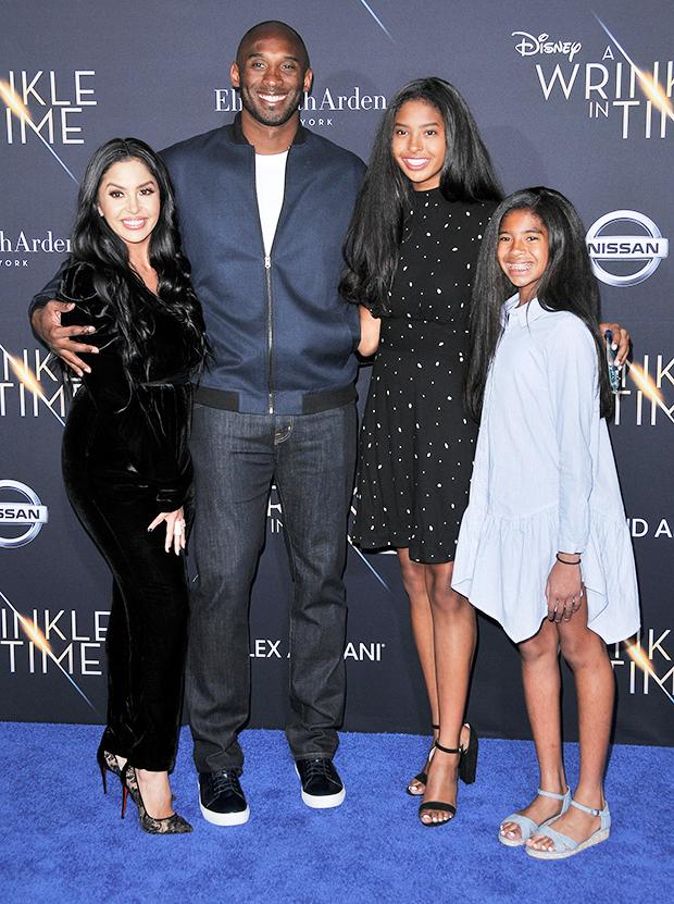 Vanessa & Kobe Bryant with daughters Natalia & Gigi