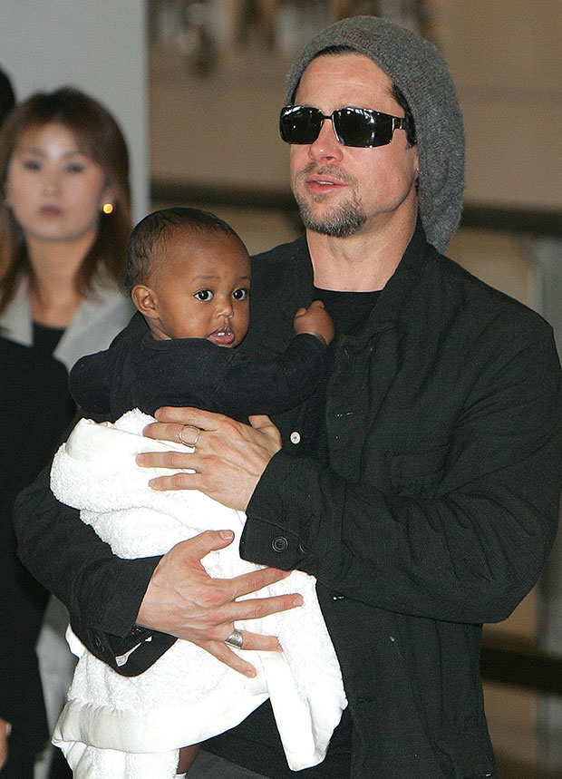 Zahara Jolie-Pitt, Brad Pitt