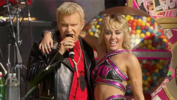 Billy Idol Rocks Out With Miley Cyrus For Epic Performance At Super Bowl's TikTok Tailgate — Watch
